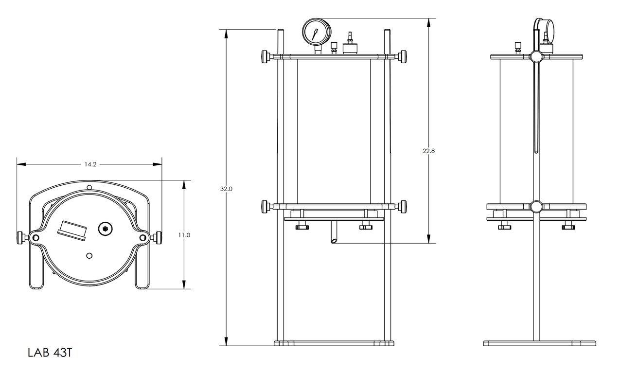 43T Series Lab Filter Drawing