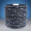 lenticular carbon filter - flat gasket