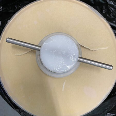 top view of filter destroyed by backflow